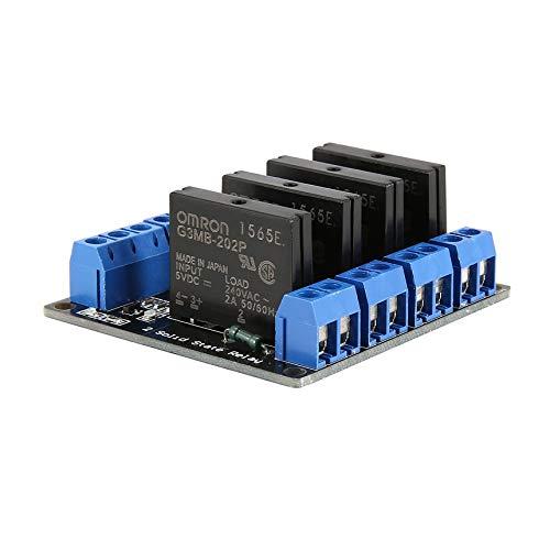 4-Kanal-Solid-State-Relais-Modul-Brett Low-Level-Trigger-SSR-Eingang 5V DC-Ausgang 240V AC 2A Sicherung für Arduino PLC-Controller