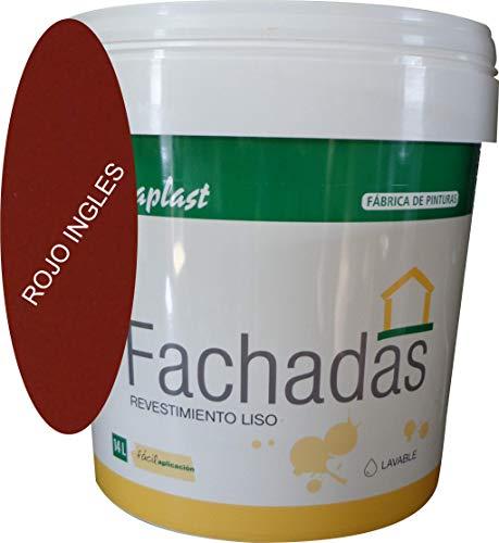 PINTURA FACHADAS COLORES Durcaplast: Revestimiento de fachadas colores mate. Extraordinaria resistencia al roce, máxima resistencia a la intemperie y al envejecimiento. (4L, ROJO INGLES 30)
