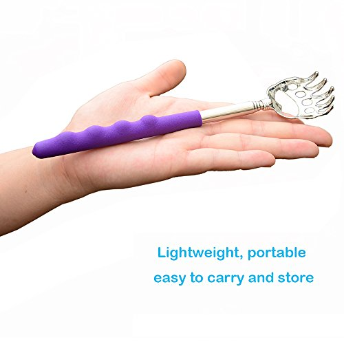 Telescopic Back Scratcher by Divine Light, Bear Claw Telescoping Scalp Massager Tool with Soft...