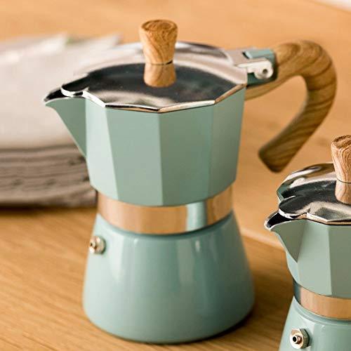 Lewpox Espresso-Kaffeemaschine, Mini Espressokocher,Wiederverwendbar Aluminium Moka Express Kaffekocher, 150/300 ML