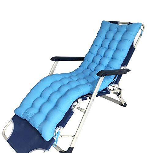 GWFVA Cuscini per lettini Prendisole Cuscini di Ricambio Patio da Giardino Spessore Rilassamento Rilassante Panchina da Relax (Senza Sedia), Lago blu-125 * 48 * 8 cm