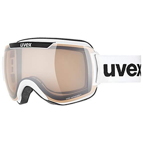 Uvex Unisex-Erwachsene Downhill 2000 V Skibrille, White (White/Silver-Clear), Einheitsgröße