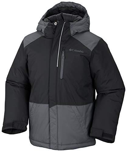 Columbia Boys' Big Lightning Lift Jacket, Black/Graphite, Medium