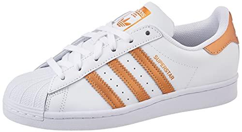 adidas Damskie buty sportowe Superstar, biały - Cloud White Copper Metallic Core Black - 39 1/3 EU