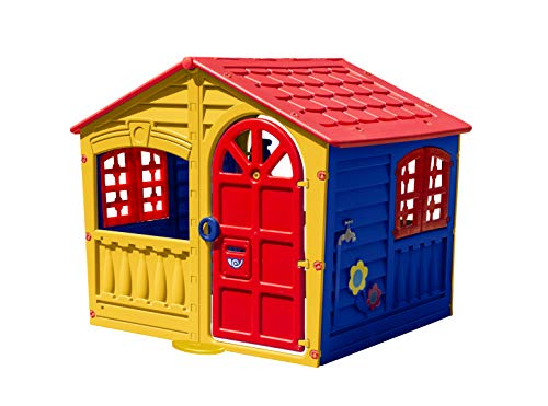 Palplay Children's Fun Outdoor, Plastic Wendy House - Colourful Strong, Durable, Weatherproof, Easy to Assemble, Recommended Age 2+