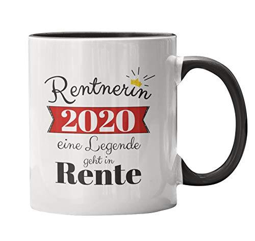Close Up Rentnerin 2020 Tasse - weiß/schwarz, Bedruckt, 100% Keramik, Fassungsvermögen ca. 300 ml.