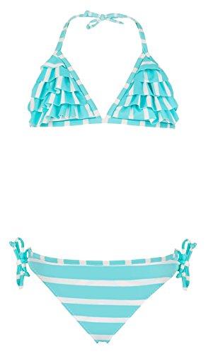 Snapper Rock meisjes ruches bikini UV UPF 50+ schattig & vlot zomer badkleding voor kinderen & tieners