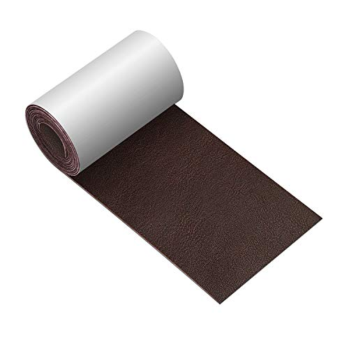 Leather Repair Tape 3X60 inch Patch Leather Adhesive for Sofas, Car Seats, Handbags, Jackets,First Aid Patch (Dark Brown No.4)