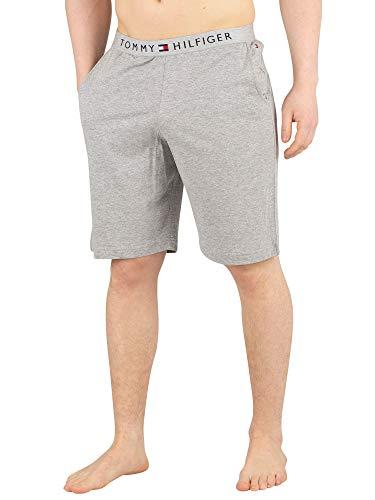 Tommy Hilfiger Clásico De Los Hombres con Logotipo Shorts De Salón, Gris Brezo