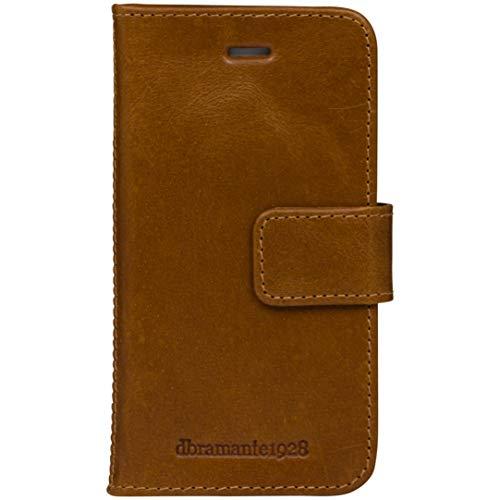 dbramante1928 - Lynge Hülle für iPhone SE/5s/5 - Klapphülle aus robustem, hochwertigem Leder - Mit Kartenfach - Brieftasche sowie Schutzhülle - Braun