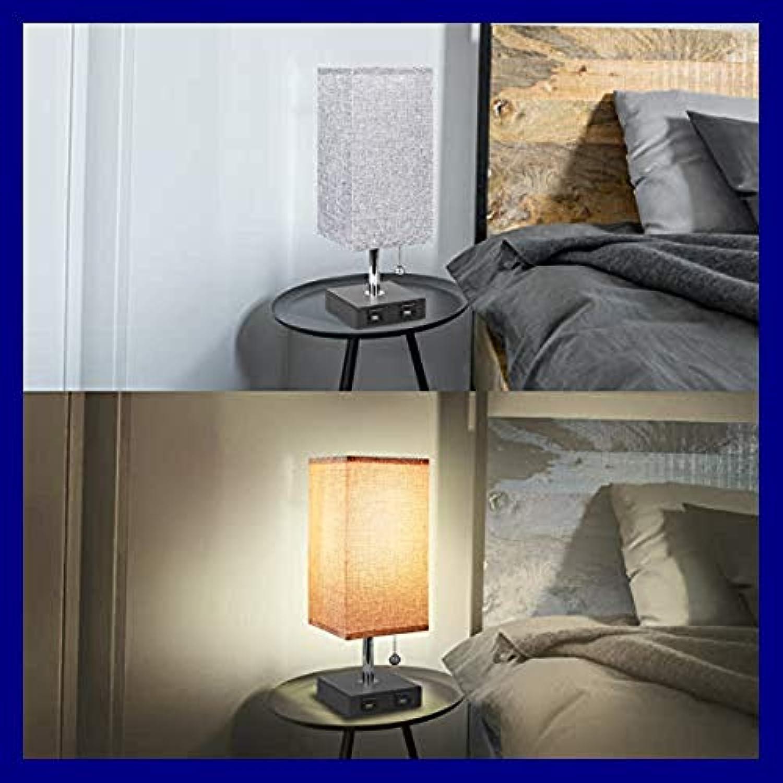 USB Nachttischlampe Modern & Desk Massivholz Nachttisch
