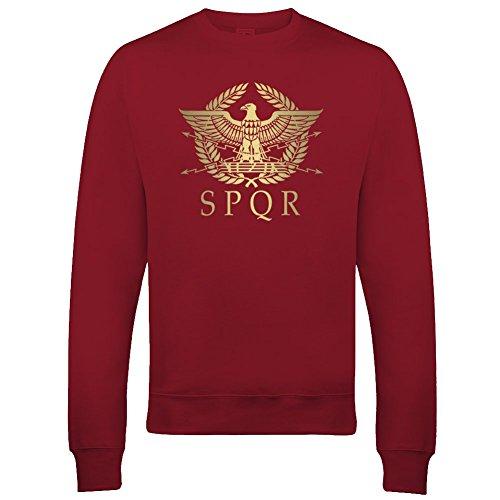 SPQR - Sudadera para hombre con diseño de águila dorada metálica