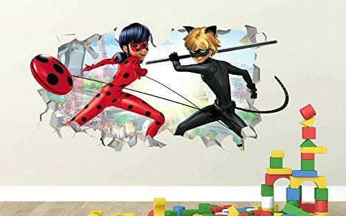 CSCH Wandtattoo Miraculous Ladybug Adrien Custom Wall Decals 3D Wall Stickers Art
