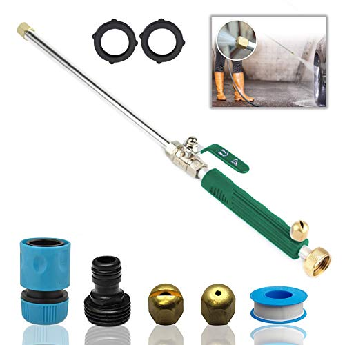 DBR Tech Hydro Jet High Pressure Power Washer Wand for Car Washing or Garden Cleaning, Heavy Duty Metal Watering Sprayer with Universal Hose End, Hydrojet Water Power Nozzle