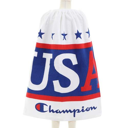 Champion チャンピオン 巻きタオル ラップタオル 巻タオル 80cm丈 80×120cm 大判 キッズ タオル (A. USA)