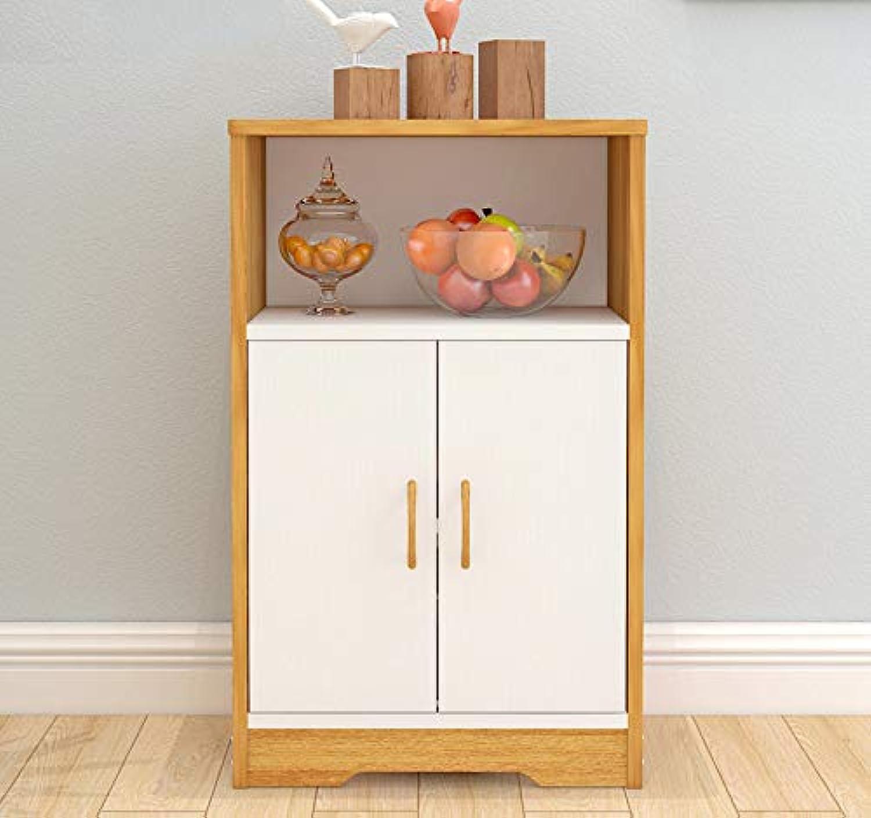 Impression Display Shelf Storage Cabinet Utility Buffet (Oak & White)