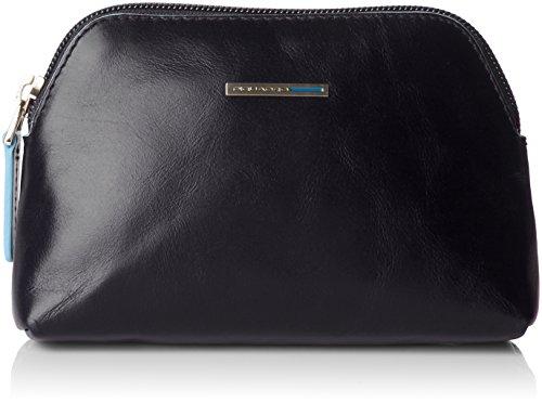 Piquadro Nécessaire Collezione Blue Square Beauty Case, Pelle, Rosso, 16 cm