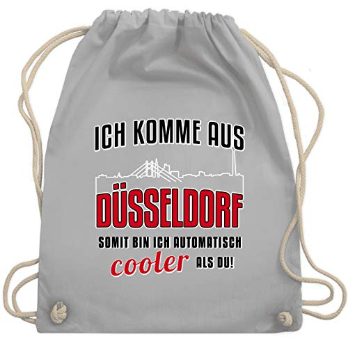 Städte - Ich komme aus Düsseldorf - Unisize - Hellgrau - ich komme aus düsseldorf - WM110 - Turnbeutel und Stoffbeutel aus Baumwolle