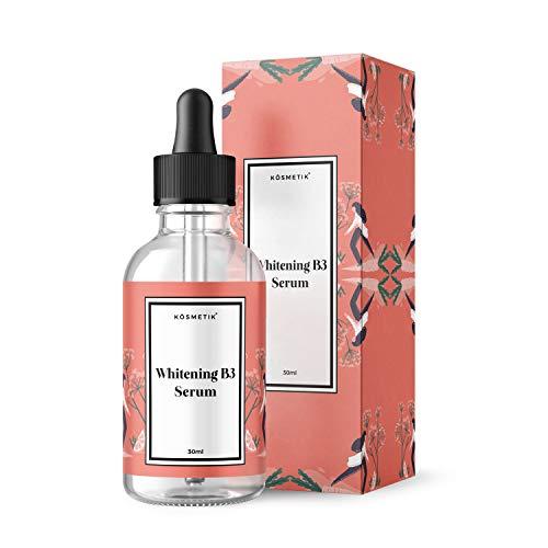KÖsmetik Whitening B3 Serum [Pigmentflecken Entferner] - Aufheller gegen dunkle Flecken - Anti Aging gegen Altersflecken » Aufhellendes Serum « Anti-Blemish in Premium-Qualität