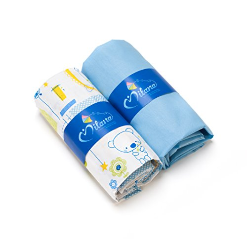 Spannbetttuch, 65x 120, Set 2Pcs (blau Jacadi, blau)