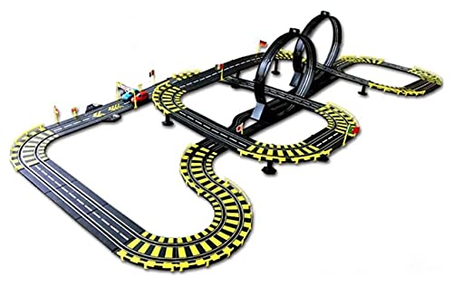 Decoración del hogar Slot Car Vehicle Race Sets 11.57M Pista grande Doble pista competitiva Coche Juguetes para niños Juguetes eléctricos de ensamblaje interactivo entre padres e hijos Coche de car