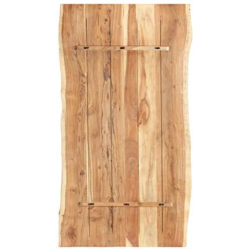 vidaXL Massivholz Tischplatte Baumkante Massivholzplatte Akazie 120x60x3,8 cm - 3