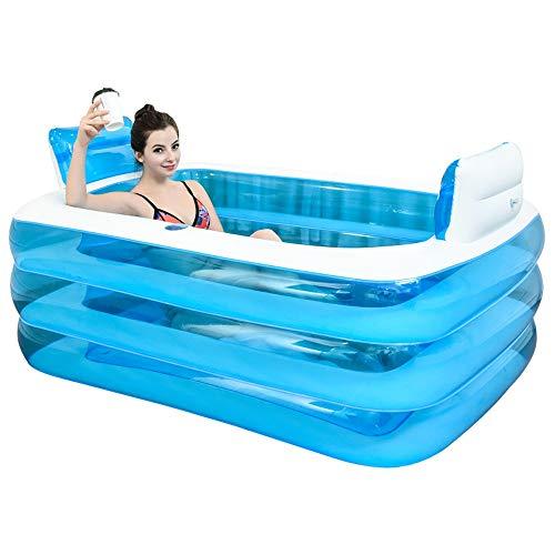 Aufblasbare Badewanne wird die Wanne gefaltet, verdickte Erwachsenen Badewanne Badewanne Badefass aus Kunststoff.