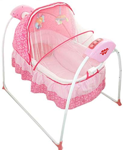 Purchase RENKUNDE Electric Baby Rocking Chair, Multi-Function Intelligent Remote Control Electric Trampoline, Suitable for Newborns to Two-Year-Old Baby Swing Chair Baby Rocking Chair