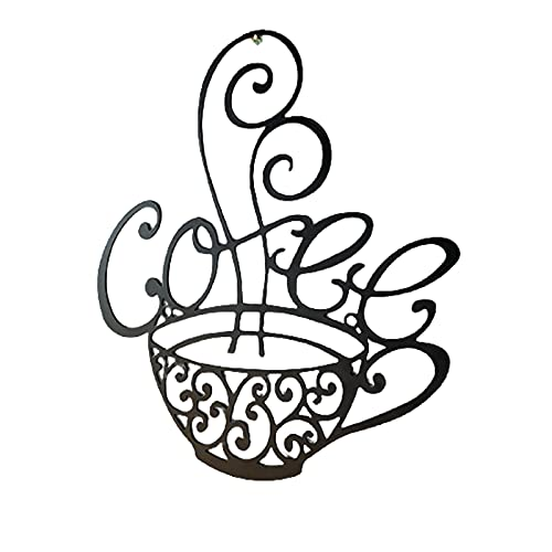Qagazine Taza de café con diseño de silueta hueca, de metal, para decoración del hogar, para salón, dormitorio, cocina