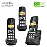 Gigaset A220A TRIO - Basic Cordless Home Phone with Answer