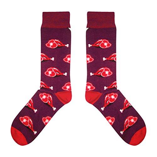CUP OF SOX - Fleisch/Braten/Grill - Socken in der Pappbecher - Herren und Damen Freizeit Fun Socken, Rot, 37-40