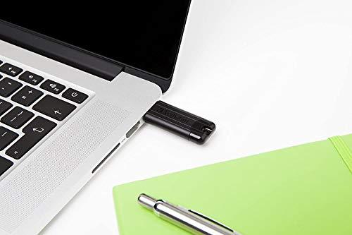 Verbatim PinStripe USB-Stick - 64 GB - High-Speed 3.0-Schnittstelle, externer Speicherstick mit Schiebefunktion - schwarz