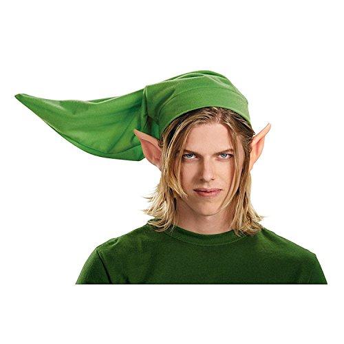 KULTFAKTOR GmbH Link-Mütze und Ohren Legend of Zelda-Kostümzubehör grün-hautfarben Einheitsgröße