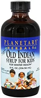 Old Indian Syrup for Kids Planetary Herbals 8 oz Liquid