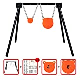 Highwild Steel Target Stand AR500 Shooting Target System (1 Stand, 2 Mounting Kits & 4'+ 8' Gongs)