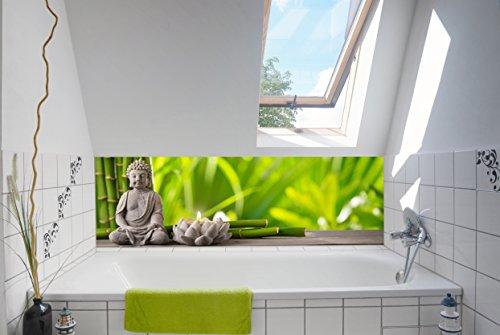 Neue Atmosphäre im Bad mit unserer Badrückwand / Deko 180x55cm (BxH) Motiv: Spa