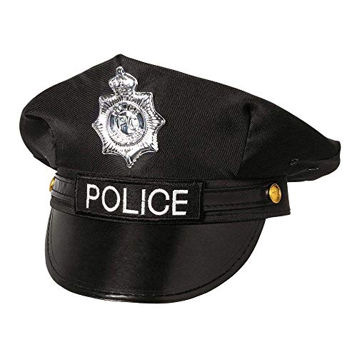 Boland 33011 - Mütze Police, Schwarz, Officer, Polizei, Beruf, Accessoire, Mottoparty, Karneval