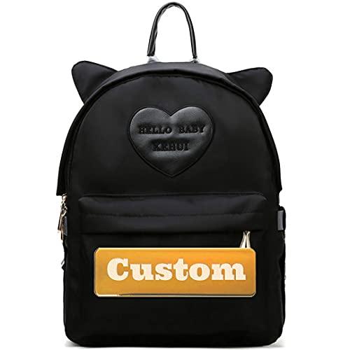 ZZMGDAM Personalisierter benutzerdefinierter Name Große Mädchen-Windel-Tasche für neugeborenes Baby groß für Mamma Rucksack Windel Tasche (Color : Black, Size : One size)