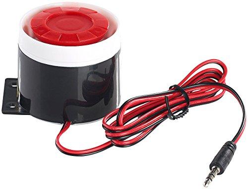 VisorTech Zubehör zu Alarmanlage Gartenhaus: 110-dB-Sirene mit Kabel, für Alarmanlage XMD-4200/4400.pro/5400.WiFi (Alarmanlage Telefon)