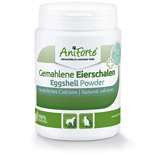 AniForte Eierschalenpulver Calcium für Hunde & Katzen – Natürliche Kalzium Quelle, Unterstützt Knochen & Zähne, Eierschalen Pulver zum barfen, hohe Bio Verfügbarkeit, laborgeprüft (250 g)