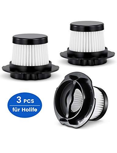 Holife 3er-Set Ersatzfilter Ersatz-HEPA-Filter Filterset HLHM036EW Handstaubsauger Modelle, Staubsack Filter Staubsaugerfilter Staubfilter Nicht geeignet Modelle