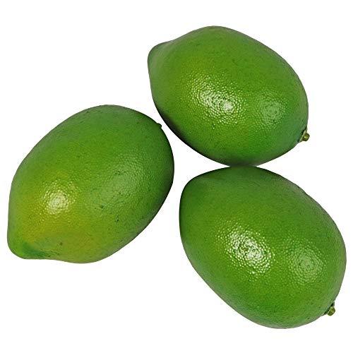Millennial Essentials Fake Fruit Artificial Realistic Lifelike Decorative Foam Fruits & Vegetables for Hand Made Home, Kitchen, Party Decor (9pcs Green Lemons/Limes)