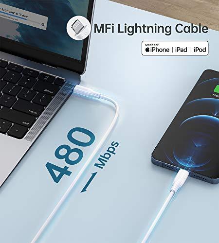 USB C Ladegerät, CHOETECH iphone 12 Ladegerät 20W,Schnellladegerät mit Ladekabel 1.2M,Power Adapter 3.0 Typ C Fast Charger Netzstecker Netzteil für IPhone 12/11 Pro/SE 2020 XS Max XR X 8 Plus iPad Pro