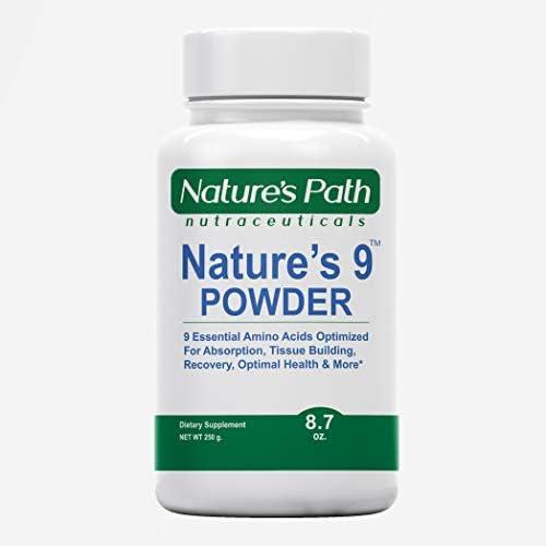 Nature s 9 Essential Amino Acids Powder EAA Blend and BCAAs PreWorkout Leucine Isoleucine Valine product image