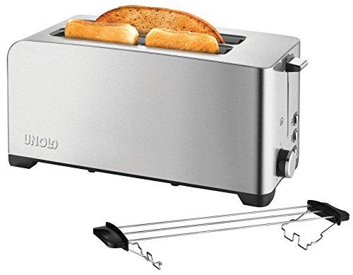 Unold 38356 Toaster 4er Edelstahl, 1400 W