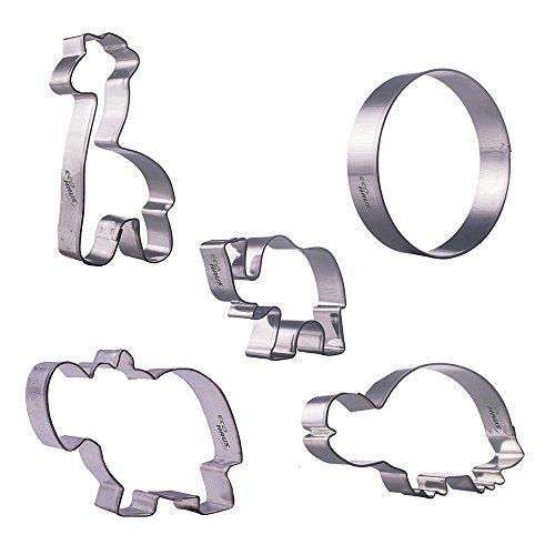 Moldes Galletas Contador Elefante - 5 piezas Set círculo jirafa
