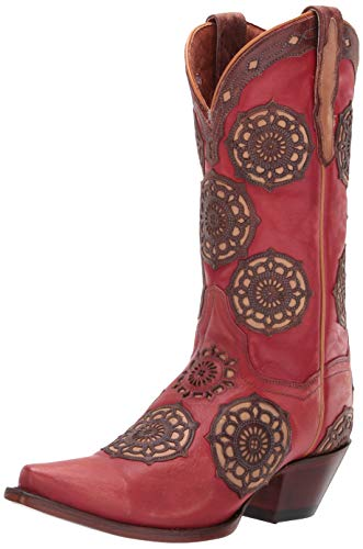 Dan Post Circus Flower Red woman's cowboy boot Size: 7.5