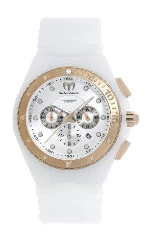 TechnoMarine 109043 Cruise Glitter Crono Oro Lunetta Bianco