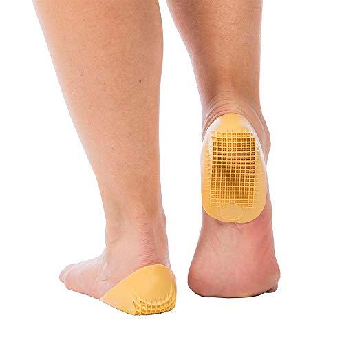 Tuli's Classic Heel Cups, Yellow, For Heel Pain & Plantar Fasciitis (Regular, Under 175lbs)