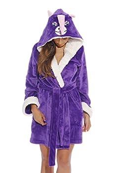 6315-Unicorn-L Just Love Critter Robe / Robes for Women Unicorn  Velour  Large